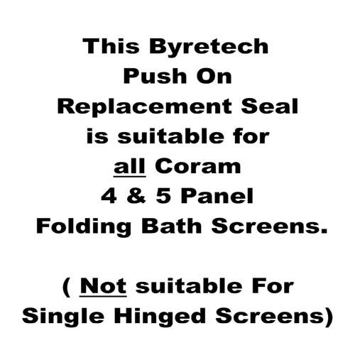 Coram Replacement Seal Folding Screens Byretech Ltd