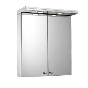 Curved shower rails byretech ltd for Armoire de salle de bain avec miroir