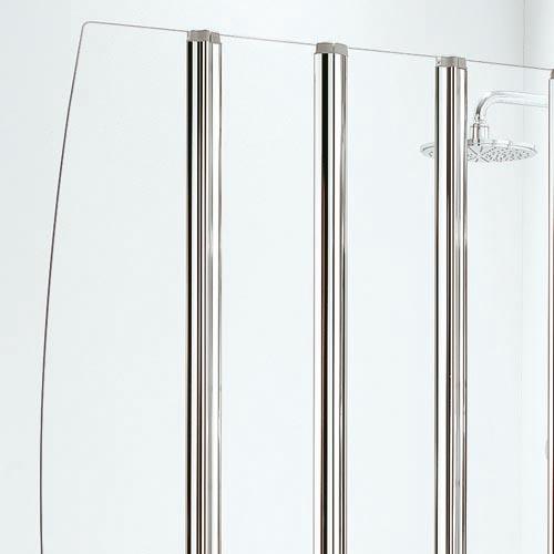 Five Panel Folding Bath Screen Chrome Finish Byretech Ltd