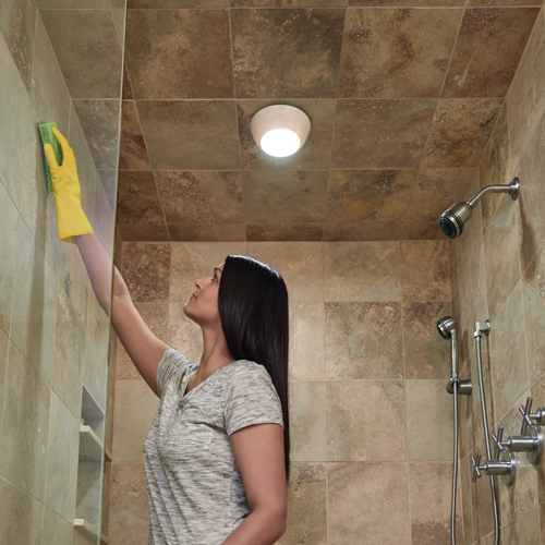 Battery Powered Led Ceiling Or Wall Light, Bathroom Battery Light