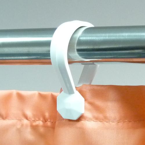 Button Curtain Rings White Byretech Ltd