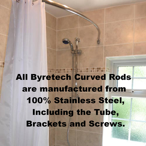 Curved Shower Rail 2m | Byretech Ltd