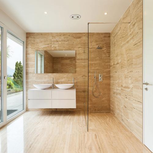 Inline White Wet Room Wall Fan