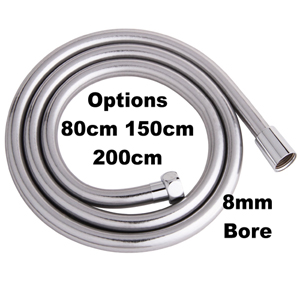 Smooth Silver Grey PVC Shower Hose