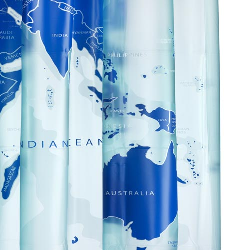 World map shower curtain byretech ltd world map shower curtain 180cm x 180cm image 1 gumiabroncs Choice Image