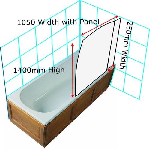 Sail Screen Fixed Panel Chrome Finish Byretech Ltd