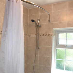 Curved Shower Rails
