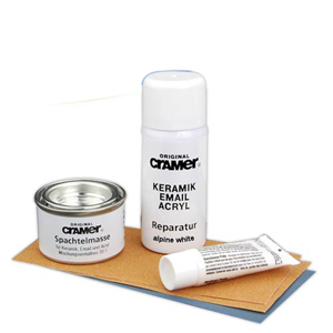 Enamel-Ceramic Scratch and Chip Repair Kit - Alpine White