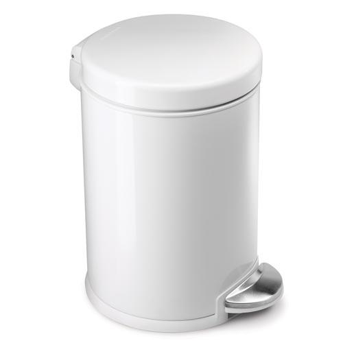 simplehuman mini white 3l pedal bin byretech ltd. Black Bedroom Furniture Sets. Home Design Ideas