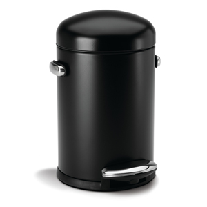 Simplehuman Retro Black 4 5l Pedal Bin Byretech Ltd