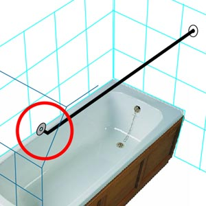 Crescent Rod To Wall Ceiling